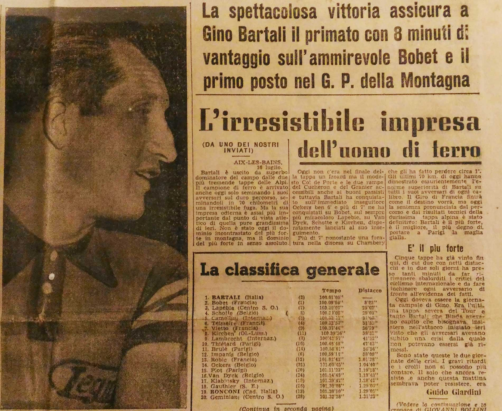 3a8b562a6 TOUR DE FRANCE 1948  70 YEARS FROM THE SPORTING CHALLENGE THAT SAVED ITALY
