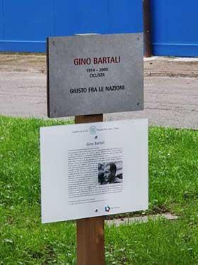 ALBERO E TEMA DEDICATI A GINO BARTALI GIUSTO TRA LE NAZIONI