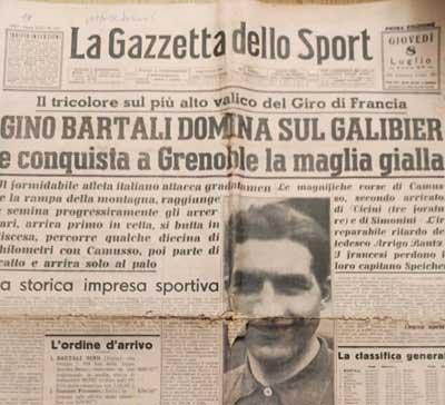 GINO BARTALI CAMPIONE DI UMANITA' E ATLETA ANTIFASCISTA